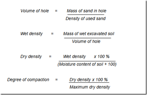 What is the density of sand?
